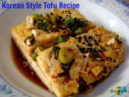 Korean Style Tofu Recipe