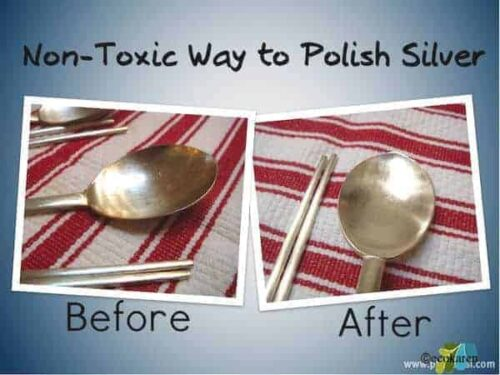 non-toxic way to polish silver