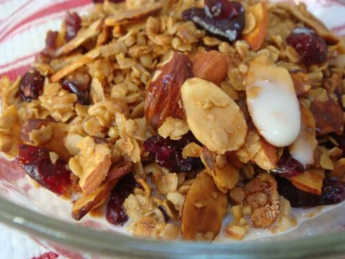 Almond Cranberry Maple Granola