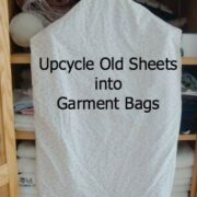 upcycled garment bags from old sheets