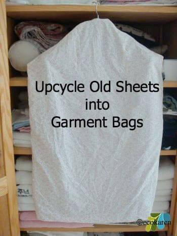 up-cycled old sheets garment bags