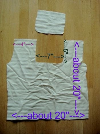 white reusable grocery bag pattern