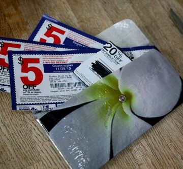 Coupon wallet with coupons