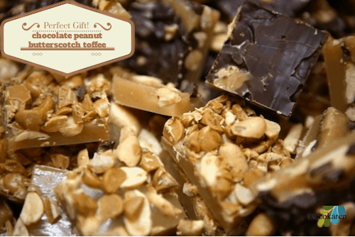 chocolate peanut butterscotch toffee