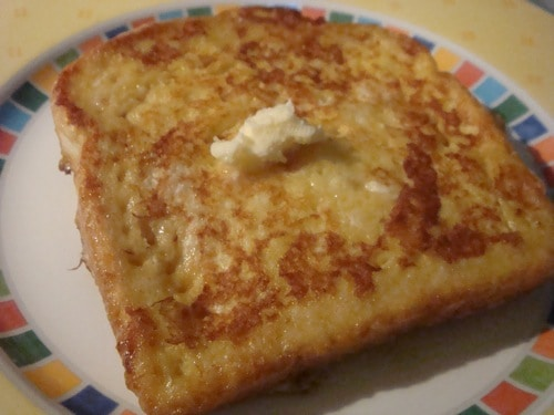 french toast with homemade butter
