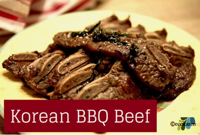 Korean bbq beef recipe kalbi is literally rib bone when translated in english the fatty cut around the ribs is perfect for grilling or braising and the meat always turns out forumfinder Choice Image