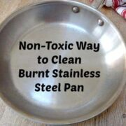 how to clean burnt stainless steel pan by ecokaren