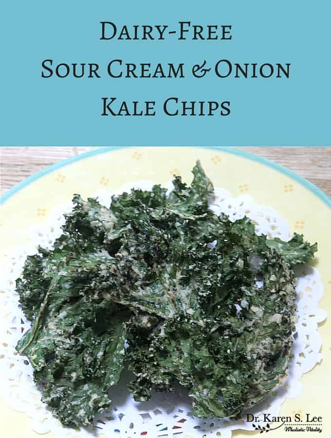 "Dairy Free ""Sour Cream"" and Onion Kale Chips Recipe"