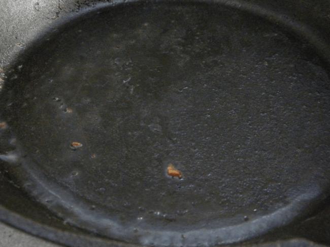 dirty cast iron pan
