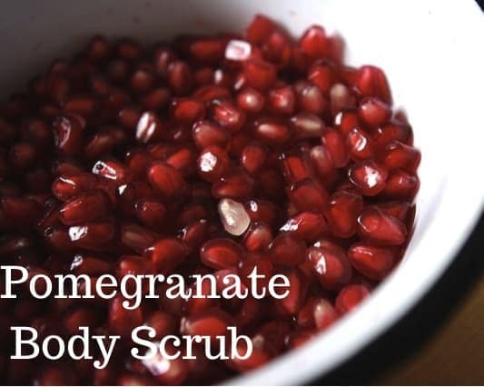 pomegranate kernels in a white bowl