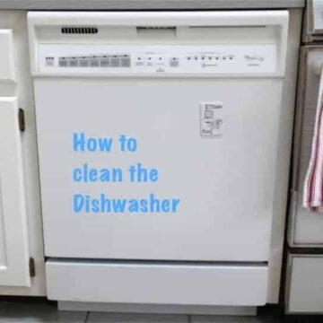 white dishwasher