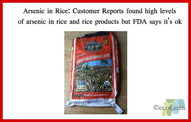 Consumer Reports warns about arsenic in rice but FDA says it's safe