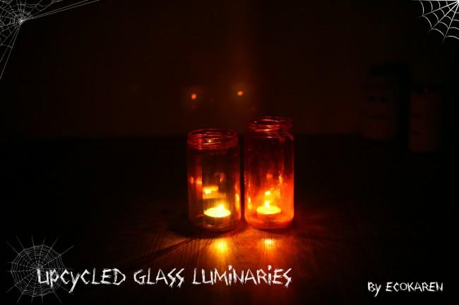 upcycled glass luminaries