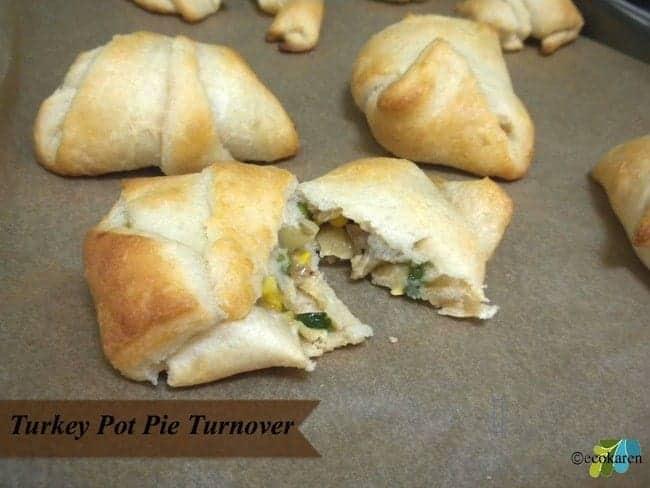 Leftover Turkey Pot Pie Turnover
