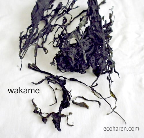 Dried Wakame on cheesecloth