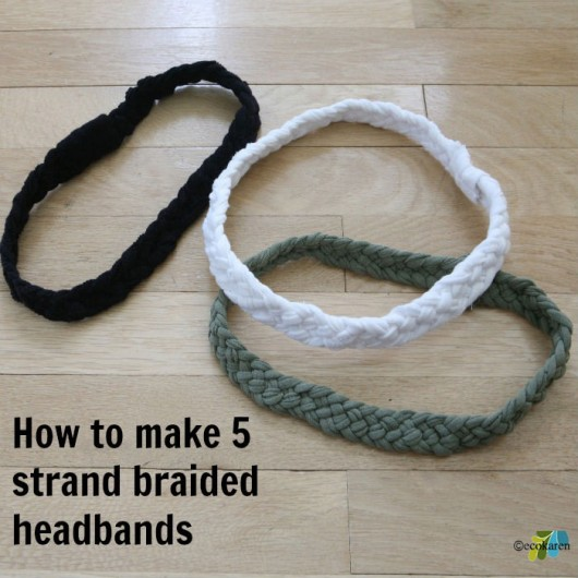 5 strand braided headband ecokaren