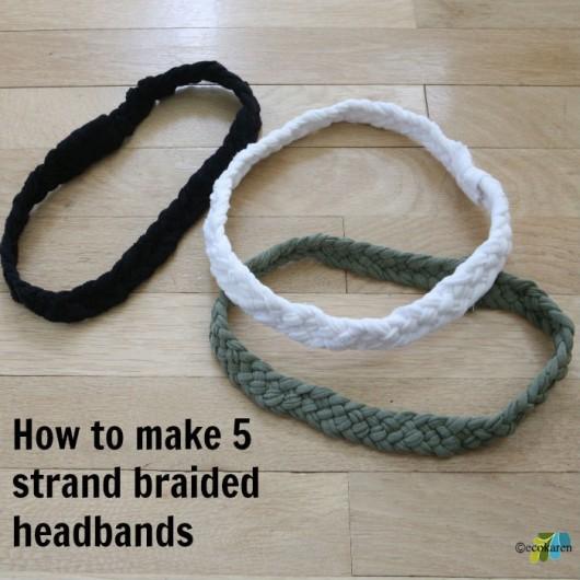 5 strand braided headband ecokaren