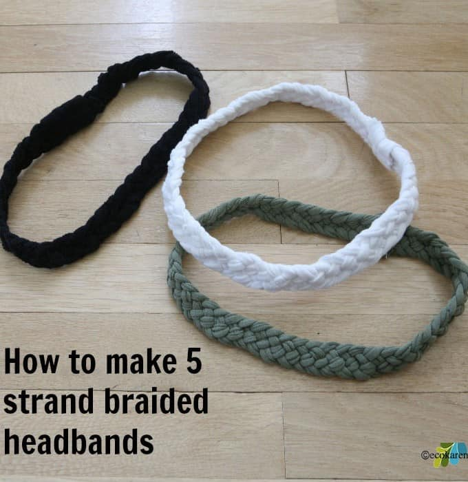 DIY: 5 Strand Braided T-Shirt Headband Tutorial