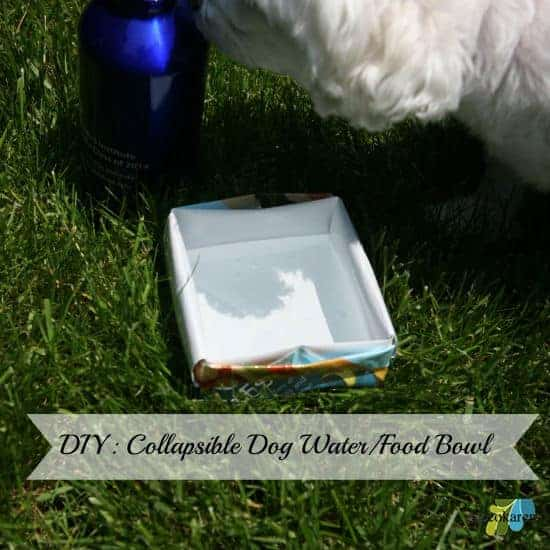DIY: Collapsible & Portable Dog Water/Food Bowl