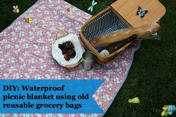 DIY: How to Make a Waterproof Picnic Blanket with Old Reusable Grocery Bags