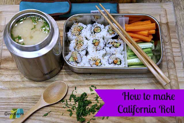How to Make a California Roll {video}
