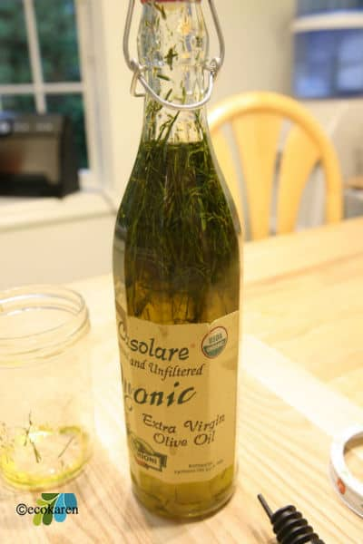 chives infused olive oil by ecokaren