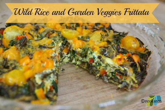 wild rice and garden veggies frittata by ecokaren