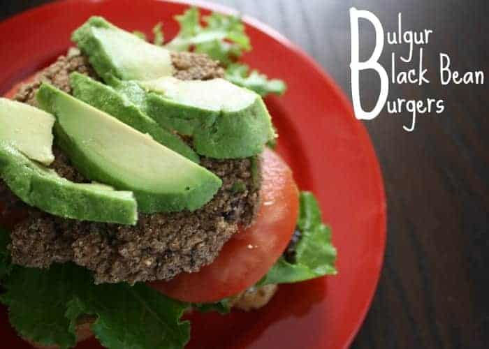 Baked Bulgur Black Bean Burgers