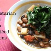 Vegetarian Chili with Sauteed Greens