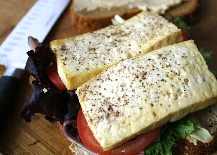 Open-Face-Baked-Tofu-Sandwich