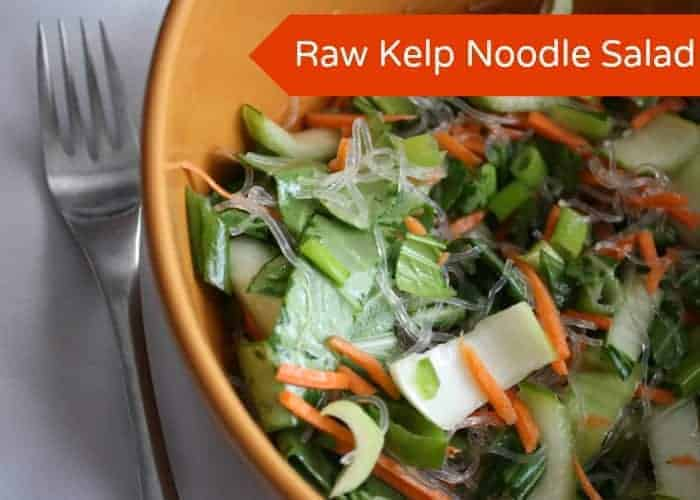 Raw Kelp Noodles Salad
