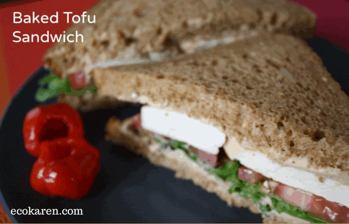 baked tofu sandwich by ecokaren