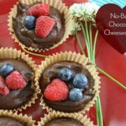 Mini No Bake Chocolate Cheesecakes
