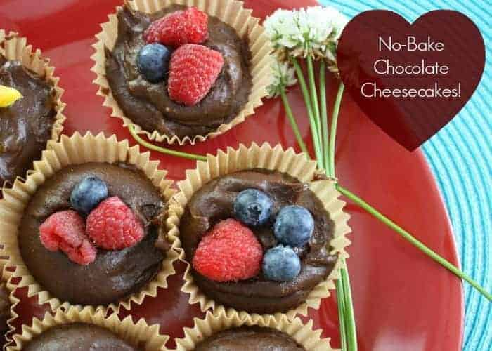 Mini No Bake Chocolate Cheesecake for Mothers Day