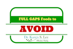 Food to Avoid Full Gaps Small Badge