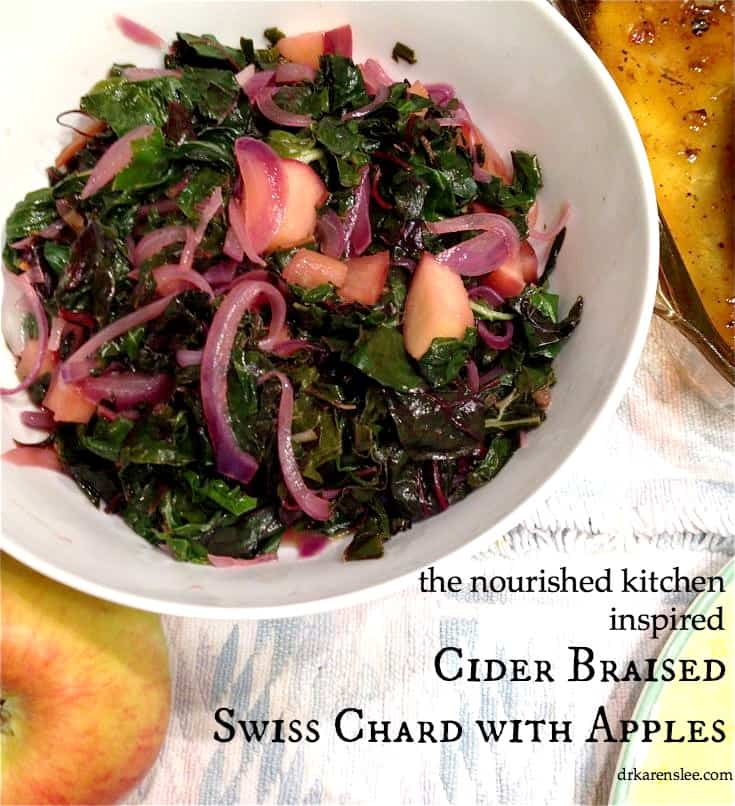 Cider Braised Swisschard Dr. Karen Lee