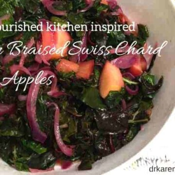 cider braised swiss chard with apples