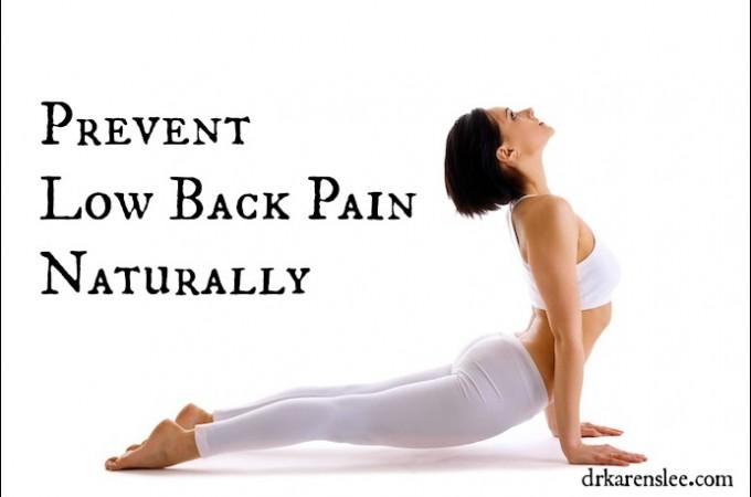 prevent low back pain by Dr. Karen Lee