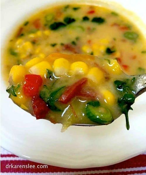 gluten free cheddar cheese corn chowder by drkarenslee