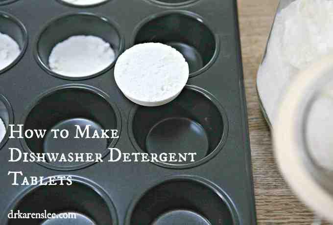 Dishwasher Detergent Tablets Formula by drkarenslee