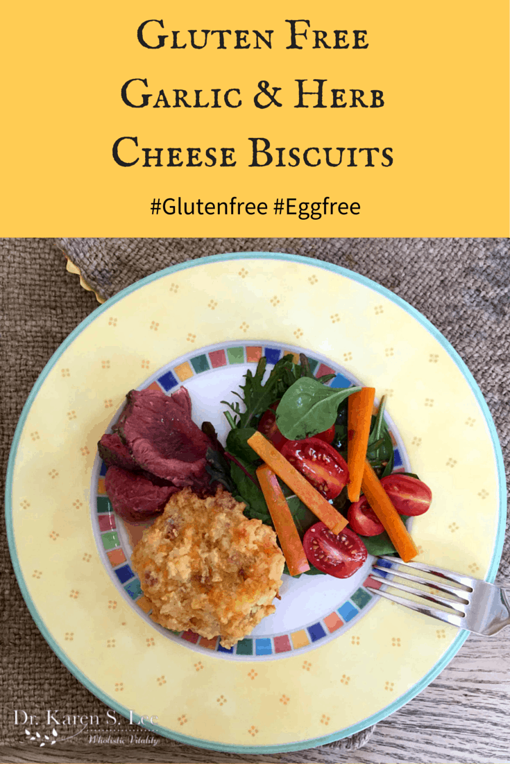 Gluten Free Garlic & Herb Cheese Biscuits Recipe drkarenslee