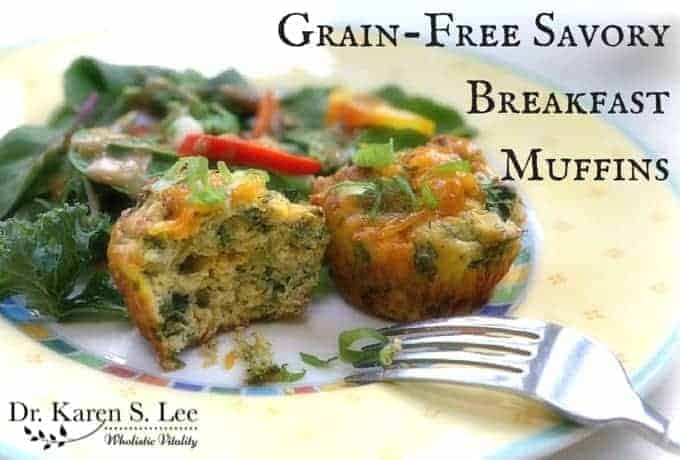 Grainfree Savory Breakfast Muffins drkarenslee