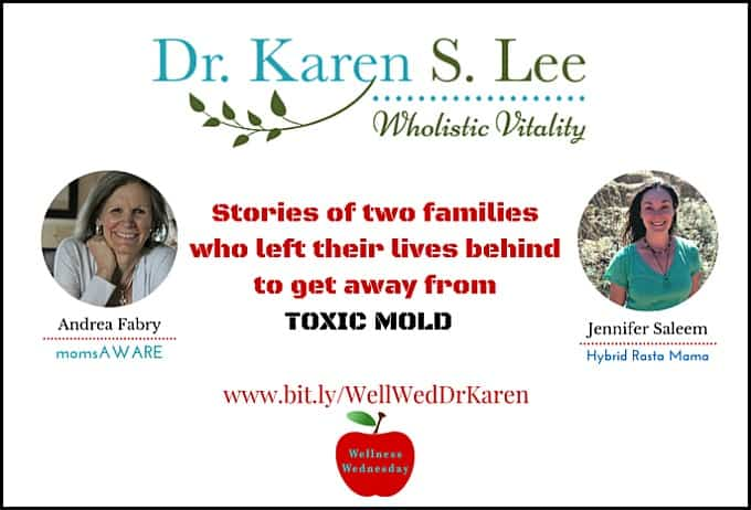 Toxic Mold Dangers webinar with Andrea Fabry and Jennifer Saleem graphics