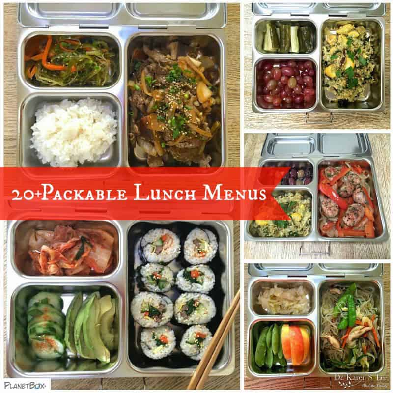 various bento style lunch boxes