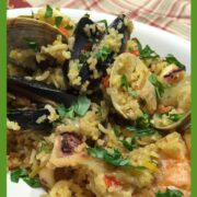 Quick Seafood Paella in Instant Pot Recipe by drkarenslee