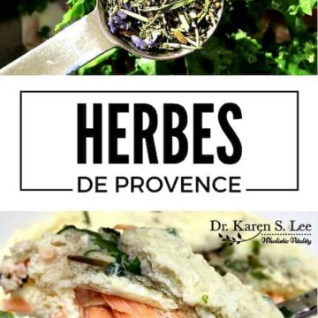 Herbes and eggs with salmon