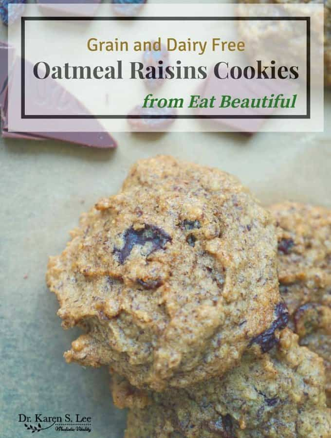 """""""Oatmeal"""" Raisins Cookies (Grain and Dairy Free) from Eat Beautiful"""