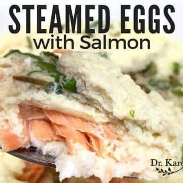 Steamed Eggs with Salmon