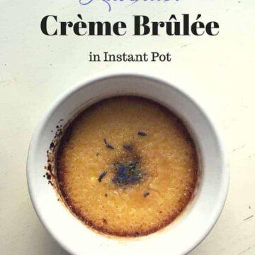 Lavender Creme Brulee in Instant Pot