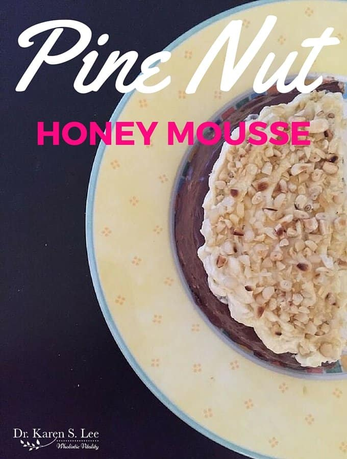Pine Nut Honey Mousse (Dairy, Grain and Sugar-Free)